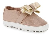 MICHAEL Michael Kors Infant Girl's Baby Bowi Metallic Slip-On Crib Shoe
