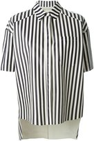 Drome perforated striped shirt - women - Leather - S