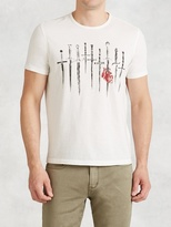 John Varvatos Daggers Graphic Tee