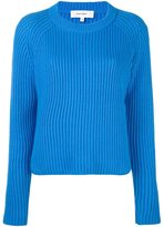 Carven raglan sleeve pullover - women - Cotton/Nylon/Viscose/Lambs Wool - S