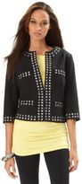 Jacket, Studded Cropped Collarless