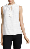 Lord & Taylor Emmy Textured Stripe Shell Top