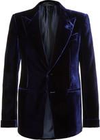 Tom Ford - Blue Shelton Slim-fit Velvet Tuxedo Jacket