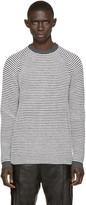 Umit Benan Black & White Striped Supergeelong Sweater