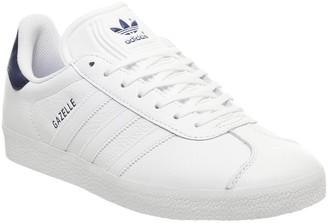 adidas Gazelle Trainers White Dark Blue