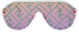 Fendi Ff Aviator Metal Sunglasses - Womens - Multi