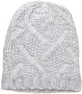 Nine West Women's Crazy Cable Marled Slouchy Beanie