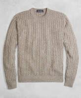 Brooks Brothers Golden Fleece® 3-D Knit Cashmere Cable-Stitch Crewneck