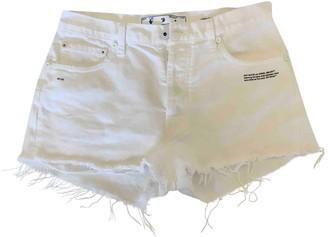 Off-White Yellow Cotton Shorts