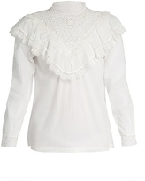 Masscob Marais lace-trimmed cotton top