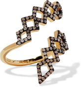 Noir Mineral Springs gold-tone stone ring