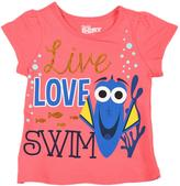 Disney Little Girls' 'Dory Live Love Swim' Short-Sleeved Tee