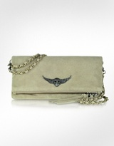 Rock Suede Leather Clutch