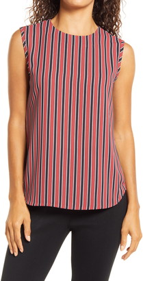 Anne Klein Vertical Stripe Shell