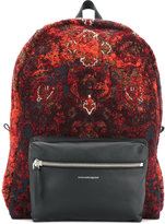 Alexander McQueen embroidered backpack