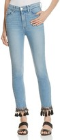Paige Jacqueline Straight Embellished Crop Jeans - 100% Exclusive