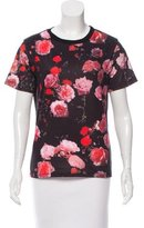 Givenchy Rose Print Short Sleeve Shirt