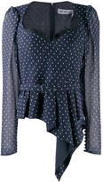 Self-Portrait Self Portrait flare polka-dot blouse