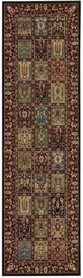 "Nourison Closeout! Area Rug, Persian Arts BD01 Multi Color 2'3"" x 12' Runner Rug"