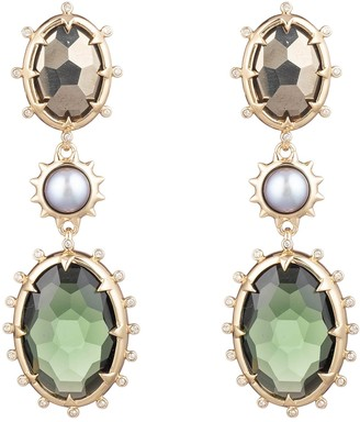 Alexis Bittar Georgian Multi Stone Drop Earrings