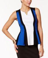 Thalia Sodi Colorblocked Peplum Top, Created for Macy's