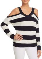 Vero Moda Sibbo Striped Cold-Shoulder Sweater