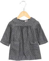 Bonpoint Girls' Polka Dot Long Sleeve Dress