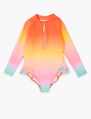 Marks and Spencer Ombre Long Sleeve Swimsuit (2-7 Yrs)