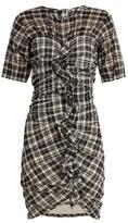 Etoile Isabel Marant Wallace checked cotton-blend mini dress