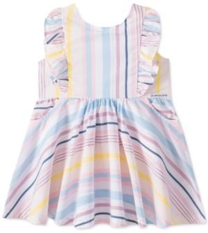 Calvin Klein Toddler Girls Cotton Striped Dress