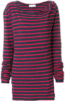 Faith Connexion wide neck striped jumper