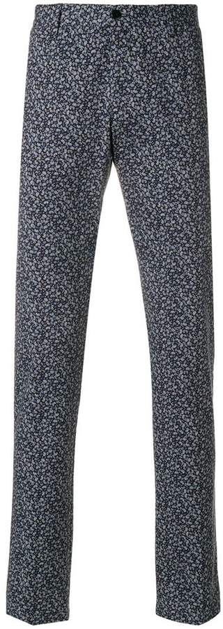 Etro printed Panama trousers