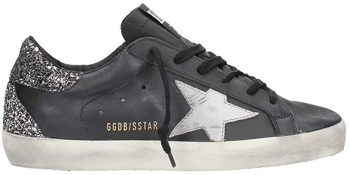 Golden Goose Superstar Black Leather Sneakers