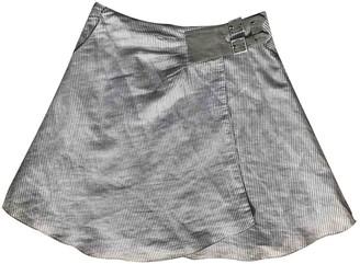 Emporio Armani White Cotton Skirt for Women
