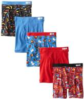 Fruit of the Loom 5Pack Boys Covered Waistband Boxer Briefs Underwear M