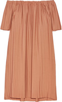 ADAM by Adam Lippes Off-the-shoulder pleated georgette tunic