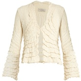 Alex Gore Browne Ruffle V-neck silk jacket