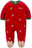 Little Me Baby Boys' 1-Pc. Footed Schiffli Bear Pajamas