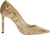 Jimmy Choo Romy Blonde Crushed Velvet Pumps