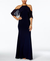 Xscape Evenings X by Cold-Shoulder Halter Gown