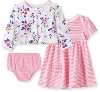 Little Me Floral Cardigan & Dress Set
