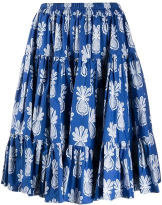 La DoubleJ Love pineapple-print skirt