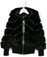 Armani Junior faux fur jacket