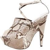 Narciso Rodriguez Snakeskin Mia Sandals