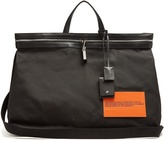 Calvin Klein Leather-trimmed nylon tote