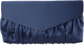 Nina Pleated Satin Clutch - Salome