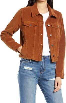 Hidden Jeans Crop Corduroy Jacket