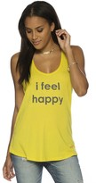 Peace Love World I Feel Happy Boyfriend Tank