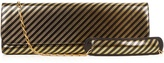 Balenciaga Pochette L striped leather clutch