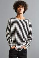 Urban Outfitters Stripe Curved Hem Long Sleeve Tee